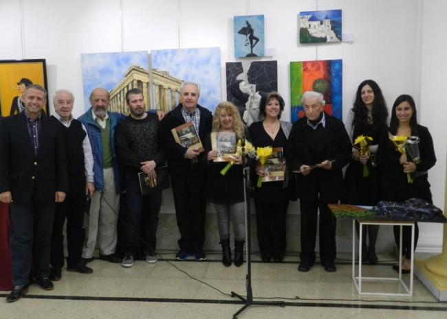 El Ing Sebastián Blasco y Oscar Veloso, recibieron a los artistas