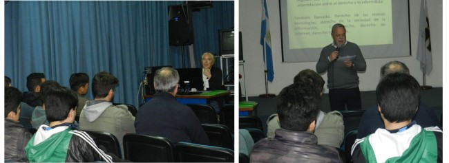 La Dra. María Victoria Flexas brindó la charla, tras la presentación del Ing. Marcelo Peyregne