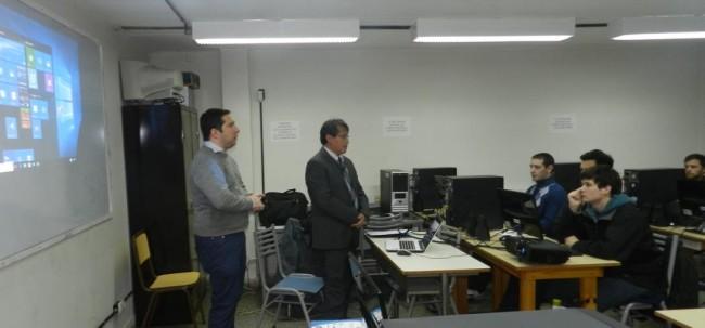 El Ing. Leandro Lata presentó al Ing. Walter Sánchez
